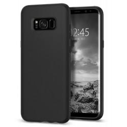 "Matinis juodas dėklas Samsung Galaxy S8 G950 telefonui ""Spigen Liquid Crystal"""