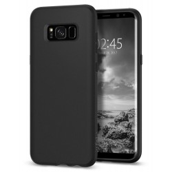 "Matinis juodas dėklas Samsung Galaxy S8 Plus G955 telefonui ""Spigen Liquid Crystal"""