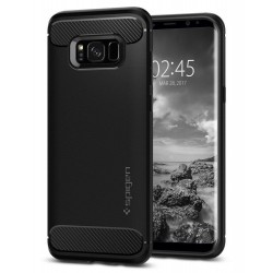 "Juodas dėklas Samsung Galaxy S8 G950 telefonui ""Spigen Rugged Armor"""
