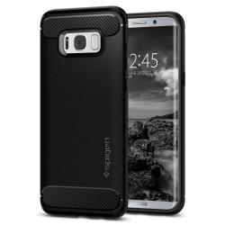 """Juodas dėklas Samsung Galaxy S8 Plus G955 telefonui """"Spigen Rugged Armor"""""""