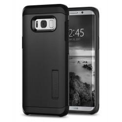 """Juodas dėklas Samsung Galaxy S8 Plus G955 telefonui """"Spigen Tough Armor"""""""