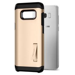 """Atverčiamas auksinės spalvos dėklas Samsung Galaxy S7 Edge telefonui """"Nillkin Sparkle S-View"""""""