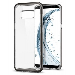 "Pilkas dėklas Samsung Galaxy S8 G950 telefonui ""Spigen Neo Hybrid Crystal"""