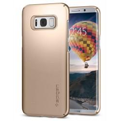 """Auksinės spalvos dėklas Samsung Galaxy S8 G950 telefonui """"Spigen Thin Fit"""""""