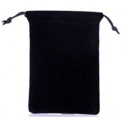 Juodas medžiaginis universalus dėklas telefonams 4.5'