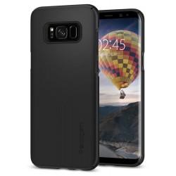 "Juodas dėklas Samsung Galaxy S8 Plus G955 telefonui ""Spigen Thin Fit"""