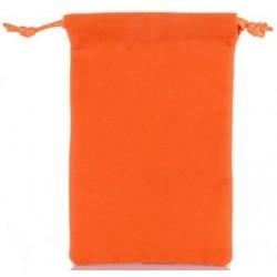 Oranžinis medžiaginis universalus dėklas telefonams 4.5'