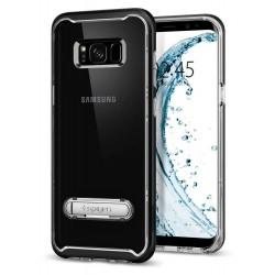 "Juodas dėklas Samsung Galaxy S8 G950 telefonui ""Spigen Crystal Hybrid"""
