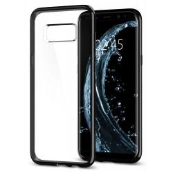 "Blizgus juodas dėklas Samsung Galaxy S8 G950 telefonui ""Spigen Ultra Hybrid"""