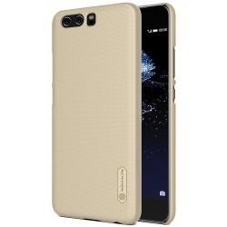 """Auksinės spalvos plastikinis dėklas Huawei P10 telefonui """"Nillkin Frosted Shield"""""""