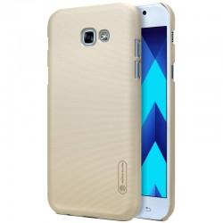 """Auksinės spalvos plastikinis dėklas Samsung Galaxy A5 2017 A520 telefonui """"Nillkin Frosted Shield"""""""