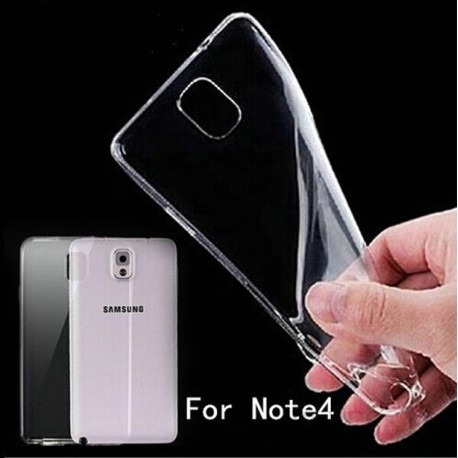 Skaidrus silikoninis dėklas Samsung Galaxy Note 4 telefonui