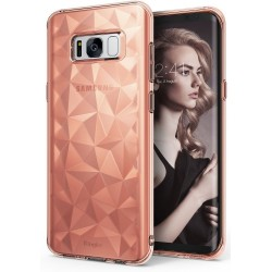 """Rausvai auksinės spalvos dėklas Samsung Galaxy S8 Plus telefonui """"Ringke Prism Air"""""""