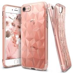 """Rausvai auksinės spalvos dėklas Apple iPhone 7 telefonui """"Ringke Prism Air"""""""