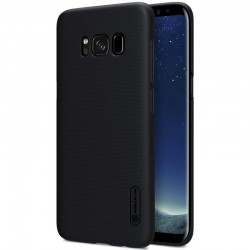 """Juodas plastikinis dėklas Samsung Galaxy S8 G950 telefonui """"Nillkin Frosted Shield"""""""