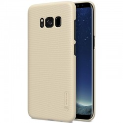 """Auksinės spalvos plastikinis dėklas Samsung Galaxy S8 Plus G955 telefonui """"Nillkin Frosted Shield"""""""