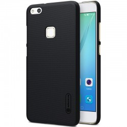"""Juodas plastikinis dėklas Huawei P10 Lite telefonui """"Nillkin Frosted Shield"""""""