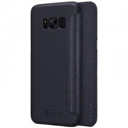 """Atverčiamas juodas dėklas Samsung Galaxy S8 G950 telefonui """"Nillkin Sparkle"""""""