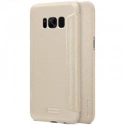 """Atverčiamas auksinės spalvos dėklas Samsung Galaxy S8 telefonui """"Nillkin Sparkle"""""""