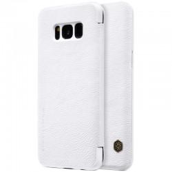 """Odinis baltas atverčiamas dėklas Samsung Galaxy S8 Plus G955 telefonui """"Nillkin Qin"""""""