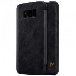 """Odinis juodas atverčiamas dėklas Samsung Galaxy S8 G955 telefonui """"Nillkin Qin"""""""