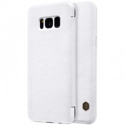 """Odinis baltas atverčiamas dėklas Samsung Galaxy S8 telefonui """"Nillkin Qin"""""""