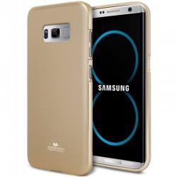"""Auksinės spalvos silikoninis dėklas Mercury Goospery """"Jelly Case"""" Samsung Galaxy S8 telefonui"""