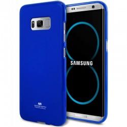 """Mėlynas silikoninis dėklas Mercury Goospery """"Jelly Case"""" Samsung Galaxy S8 telefonui"""