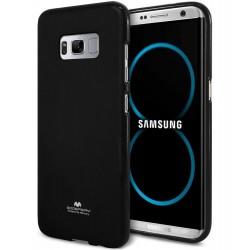 """Juodas silikoninis dėklas Mercury Goospery """"Jelly Case"""" Samsung Galaxy S8 telefonui"""