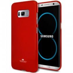 """Raudonas silikoninis dėklas Samsung Galaxy S8 G950 telefonui """"Mercury Goospery Pearl Jelly Case"""""""