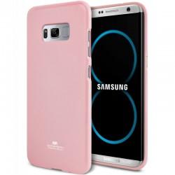 """Šviesiai rožinis silikoninis dėklas Samsung Galaxy S8 Plus telefonui """"Mercury Goospery Pearl Jelly Case"""""""