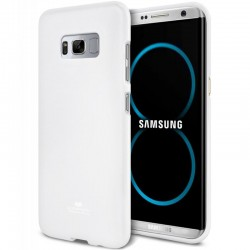 """Baltas silikoninis dėklas Samsung Galaxy S8 Plus telefonui """"Mercury Goospery Pearl Jelly Case"""""""