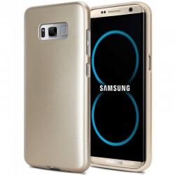 """Auksinės spalvos silikoninis dėklas Samsung Galaxy S8+ telefonui """"Mercury iJelly Case Metal"""""""