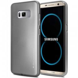 """Pilkas silikoninis dėklas Samsung Galaxy S8+ telefonui """"Mercury iJelly Case Metal"""""""
