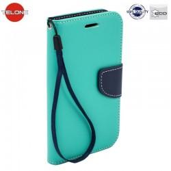 """Mėtos spalvos atverčiamas dėklas Huawei P10 Lite telefonui """"Telone Fancy"""""""