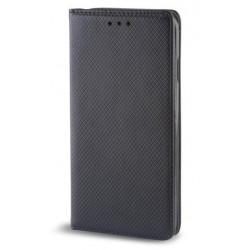 """Juodas atverčiamas dėklas Huawei Honor 8 telefonui """"Smart Book Magnet"""""""