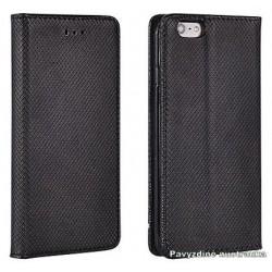 """Odinis juodas atverčiamas klasikinis dėklas Sony Xperia E5 telefonui """"Book Special Case"""""""