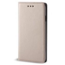 """Auksinės spalvos atverčiamas dėklas Huawei P8/P9 Lite 2017 telefonui """"Smart Book Magnet"""""""