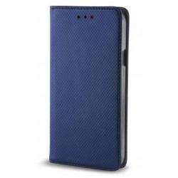"""Mėlynas atverčiamas dėklas Huawei P8/P9 Lite 2017 telefonui """"Smart Book Magnet"""""""