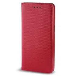 """Raudonas atverčiamas dėklas Huawei P8/P9 Lite 2017 telefonui """"Smart Book Magnet"""""""