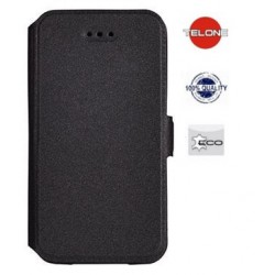 """Juodas atverčiamas dėklas Huawei P10 Plus telefonui """"Telone Book Pocket"""""""