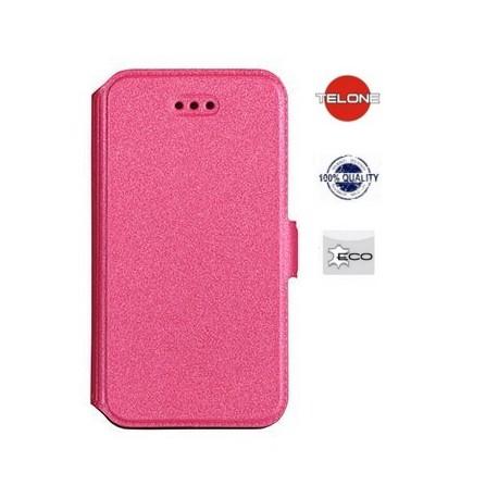 """Rožinis atverčiamas dėklas Sony Xperia Z3+ telefonui """"Telone Book Pocket"""""""