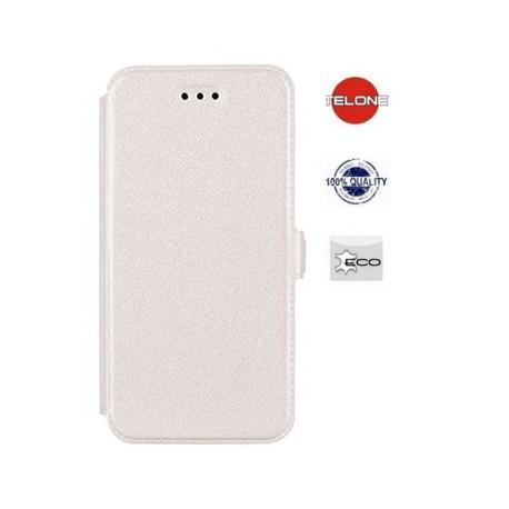 """Baltas atverčiamas dėklas Sony Xperia M4 Aqua telefonui """"Telone Book Pocket"""""""