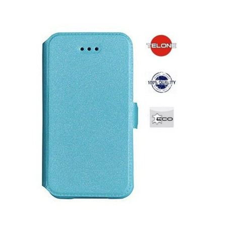 """Mėlynas atverčiamas dėklas Samsung Galaxy S6 telefonui """"Telone Book Pocket"""""""