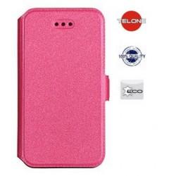 """Rožinis atverčiamas dėklas Huawei P9 Lite telefonui """"Telone Book Pocket"""""""