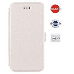 """Baltas atverčiamas dėklas Huawei P8 Lite telefonui """"Telone Book Pocket"""""""