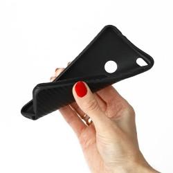 """Juodos spalvos silikoninis """"Glossy"""" Apple iPhone 7 Plus / 8 Plus dėklas"""