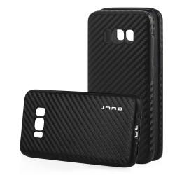 """Juodas CARBON dėklas Samsung Galaxy S8 telefonui """"Qult Carbon"""""""
