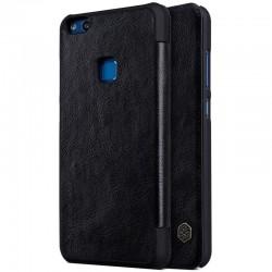 """Odinis juodas atverčiamas dėklas Huawei P10 Lite telefonui """"Nillkin Qin"""""""