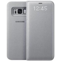 """Originalus sidabrinės spalvos dėklas """"LED View Cover"""" Samsung Galaxy S8 telefonui ef-ng950pse"""